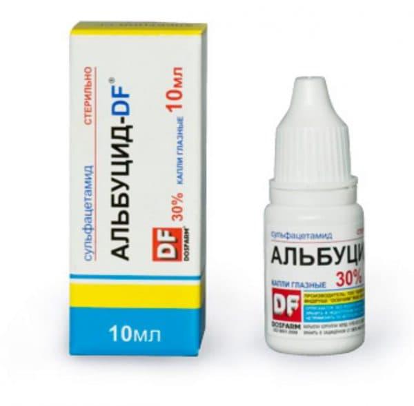 Глазные капли Альбуцид-DF