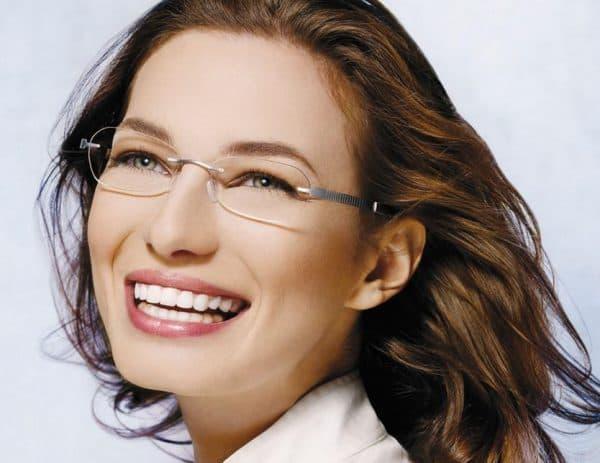 Женские безободковые очки