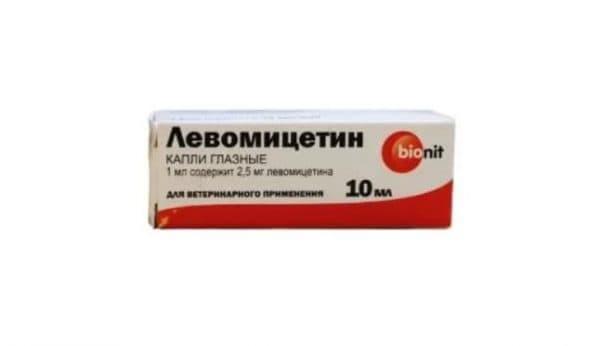 Глазные капли Левомицетин