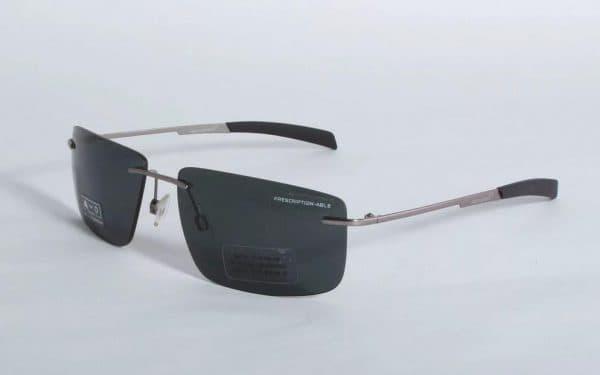 Титановые мужские безободковые очки McLaren