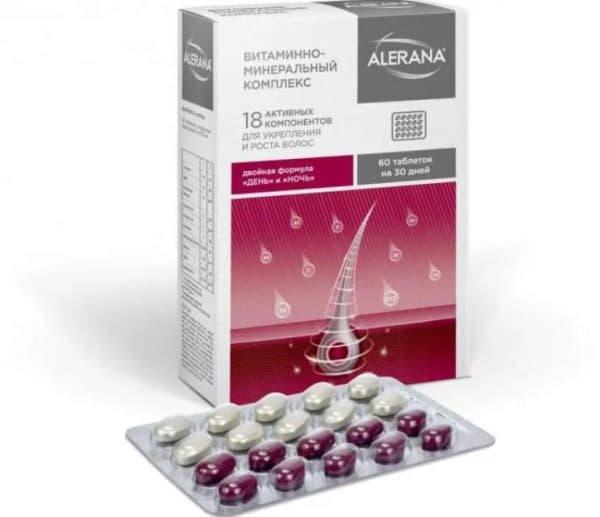 Витамины Алерана для роста волос