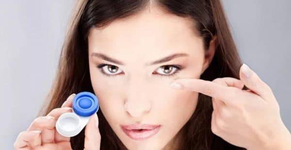 Снятие контактных линз