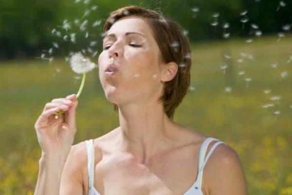Отсутствие аллергии на цветение растений