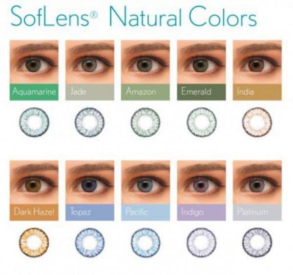 Ассортимент цветных линз Soflens Natural Colors