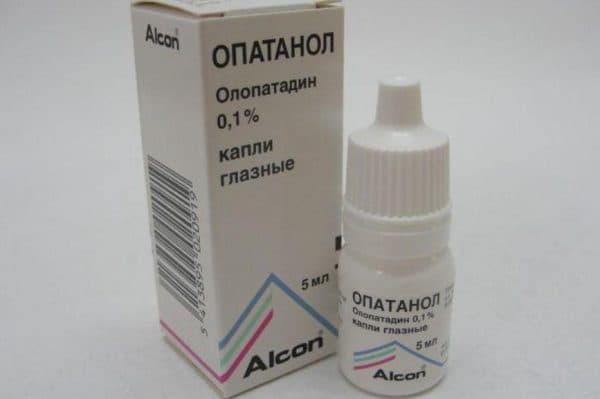 Антигистаминные глазные капли Опатанол