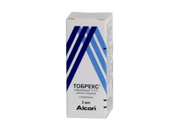 Глазные капли с антибиотиком Тобрекс