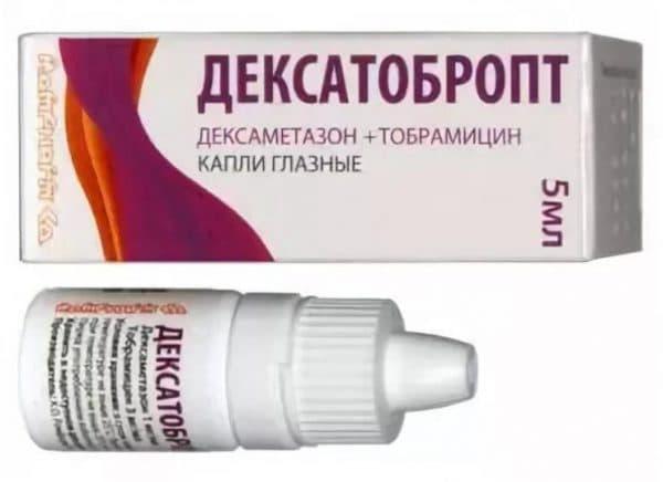Глзные капли Дексатобропт