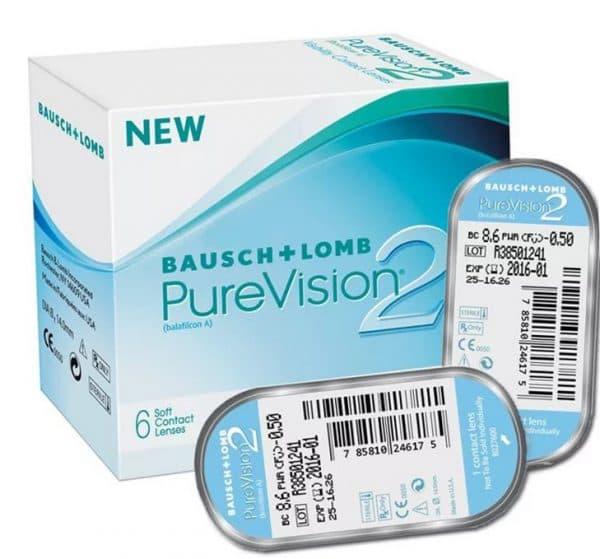 Контактные линзы Bausch+Lomb PureVision2