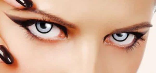 Белые контактные крейзи линзы