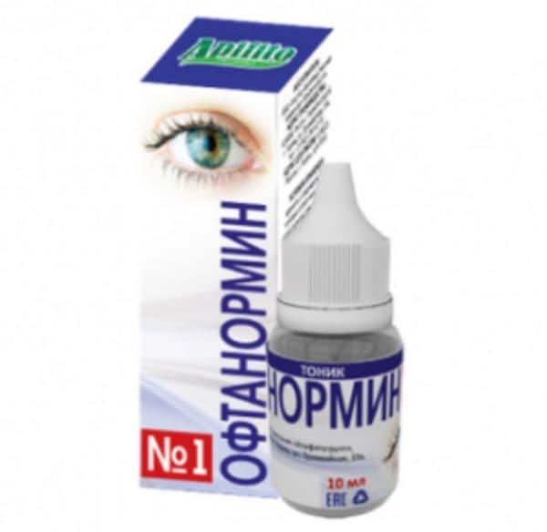 Глазные капли Офтанормин №1