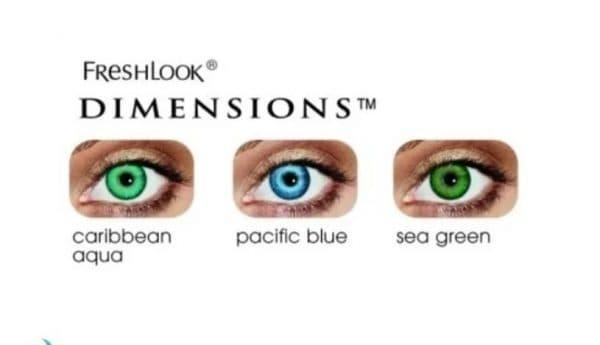 FreshLook Dimensions контактные линзы с диоптриями