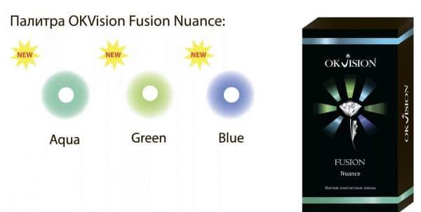 Fusion Nuance контактные линзы с диоптриями