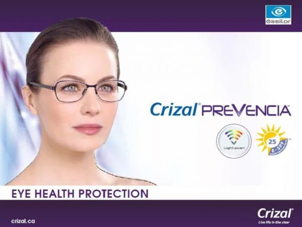 Stylis Crizal Prevencia UV 1.67 перифокальные линзы