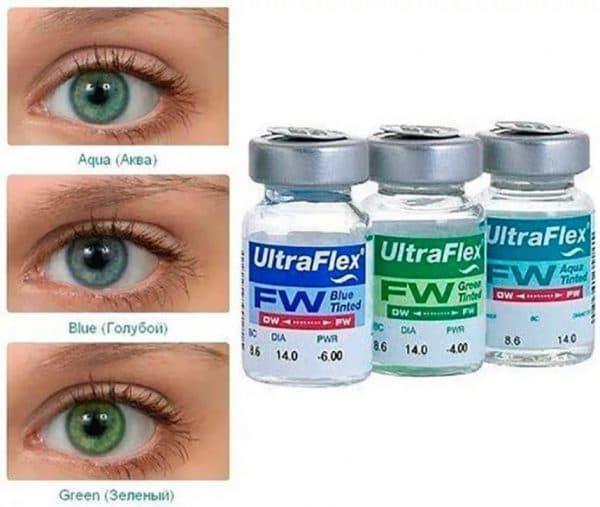 Ultra Flex контактные линзы с диоптриями