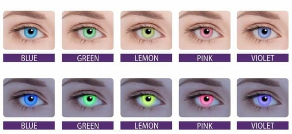 Оттенки контактных линз Adria Neon