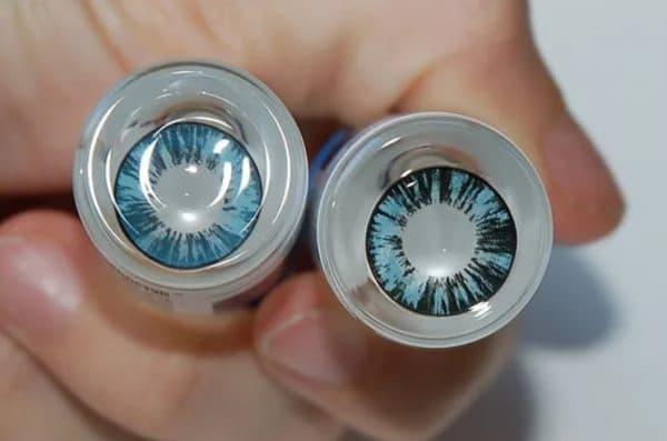Хранение цветных контактных линз с диоптриями