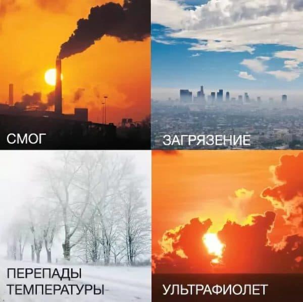Неблагоприятные факторы окружающей среды